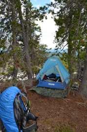 Our ridge camp