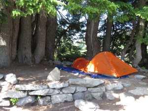 My lovely little campsite