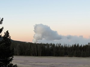 Steamboat Geyser, about 30 hours after eruption