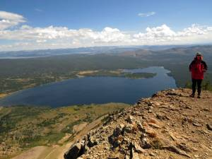 Summit of Mt. Sheridan, Heart Lake below