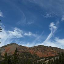 Red Mountain under a show of mare's tails