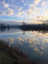 Snohomish River, mirroring the sky